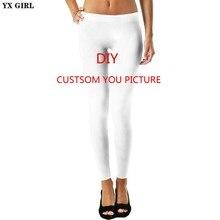 546aede79ba YX GIRL 3D Print DIY Custom Design Women Leggings Casual Pants plus size  S-3XL