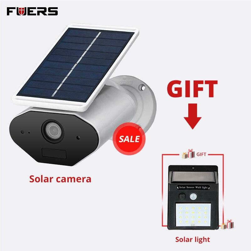 FUERS 960 P HD chargeur de panneau solaire batterie sans fil caméra WiFi IP intérieur extérieur étanche USB caméra PIR détecteur à distance