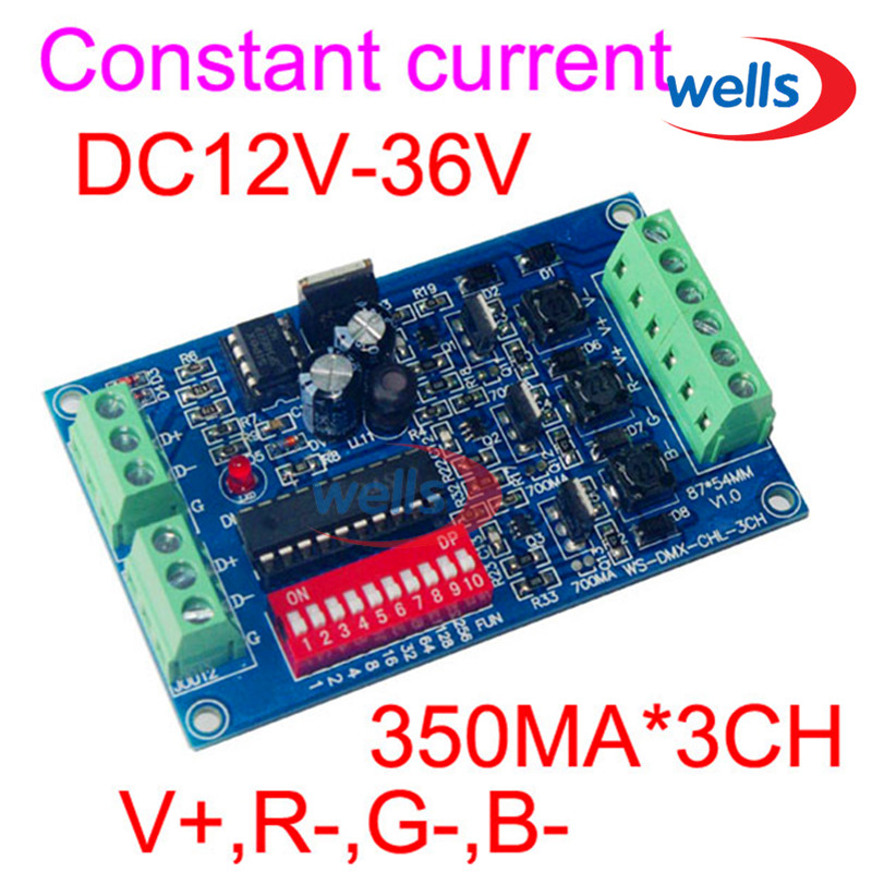dmx512 Decoder For Led Lamp Rgb drive Dmx 3ch Rgb Controller Constant Current 350ma High-power