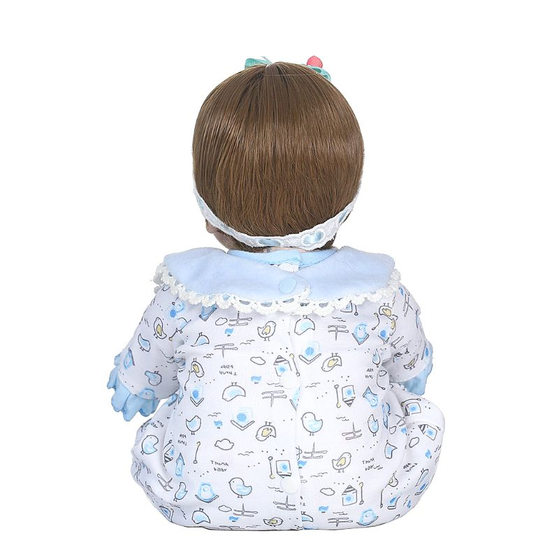 40cm Lifelike Silicon Babydoll Basket Pillow Mini Chick Cute Toy Early Childhood цена