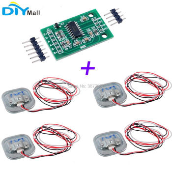 4pcs 50KG Human Scale Body Load Cell Resistance Half-bridge Strain Weight Sensor + 1pcs HX711 AD Weighing Module vvzf70 16io7 three phase half controlled bridge module