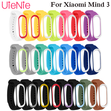 For Xiaomi Mi Band 3 smart watch Strap Band 3 Bracelet Wristband Band Wrist Strap For Xiaomi Mi Band 3 Replacement Bracelet 3 length smart accessories silicon wristband for xiaomi mi band 2 replacement strap band case wristband fit 52315 181007 jia