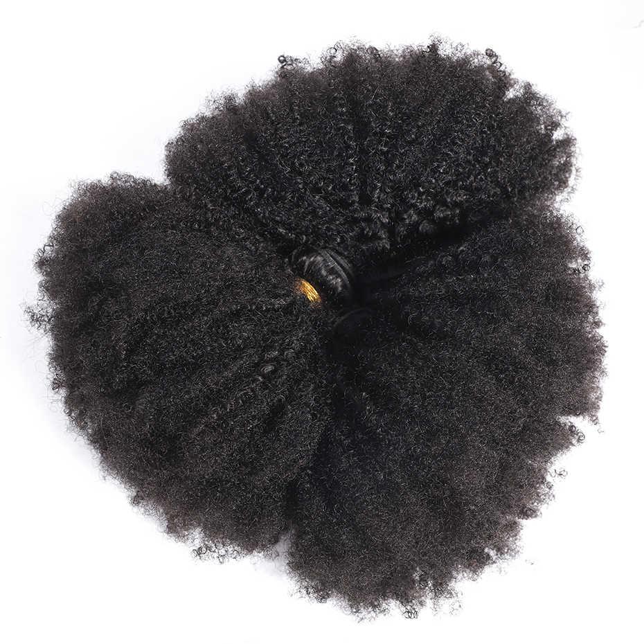 Габриель монгольские афро кудрявые пучки вьющихся волос 8-20 дюймов 100% человеческие волосы переплетения пучки 1/3 шт remy волосы для наращивания
