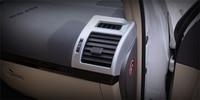 Yimaautotrims Chrome Air Conditioner AC Vent Outlet Cover Trim 2 Pcs Fit For Toyota Land Curious Prado FJ150 2014 2015 2016 2017