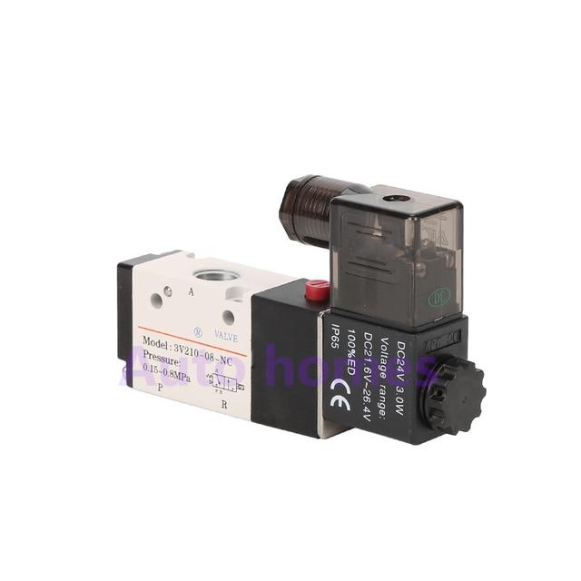 """3V210 06 3V210 08 NO/NC Port 1/8 """"1/4"""" Pneumatische Magnetventil 3/2 weg regelventil DC24V AC220V"""