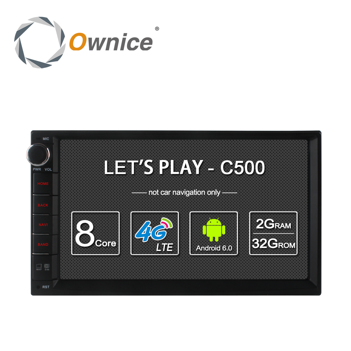 Ownice C500  Android 6.0 Octa Core 2 din Universal For Nissan GPS Navi BT Radio Stereo Audio Player(No DVD) Build-in 4G Moudule автомобильный dvd плеер zhoon android 4 2 2 dvd gps xtrail nissan x trail