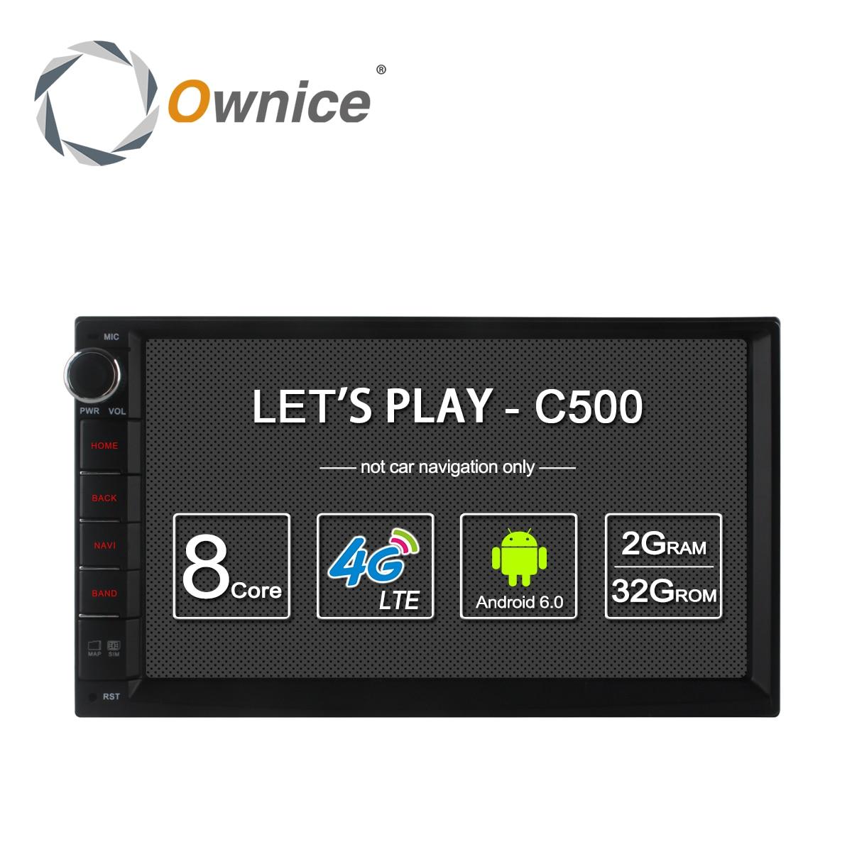 Ownice C500 Android 6.0 Octa Rdzeń 2 din Uniwersalny Nissan GPS Navi BT Radio Odtwarzacz Audio Stereo (Nie DVD) Wbudowany w 4G Moudule