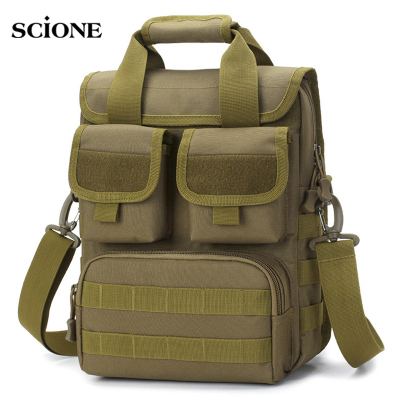 Men Military Tactical Bag Molle Messenger Shoulder Bags Waterproof Male Camouflage Single Belt Sack Handbags Outdoor XA746WA