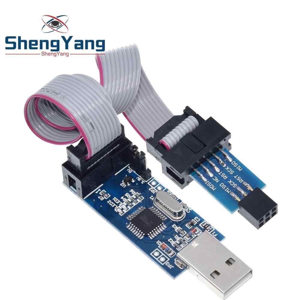 """1 комплект 10Pin до 6 Pin адаптер доска + USBASP USBISP AVR программист USB ATMEGA8 ATMEGA128 ATtiny/CAN/PWM 10Pin провод модуль """"сделай сам"""""""