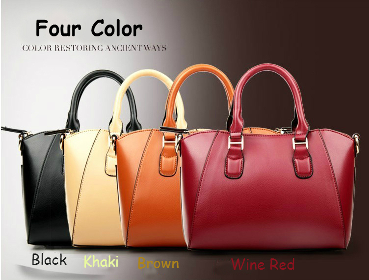 New 2017 Fashion Women Genuine Leather Handbags Famous Brand Cowhide Handbag One Shoulder Bag Messenger Totes Lady Purse In Bags From Luggage