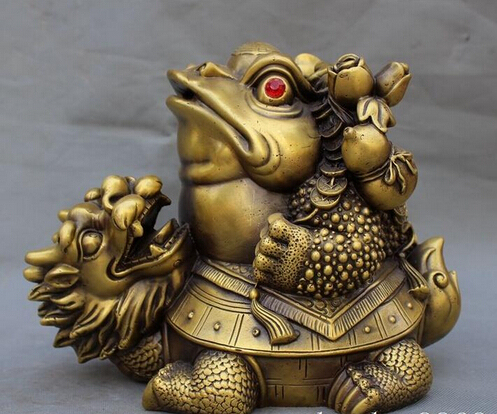 scy 1127 9 chinese fengshui brass money coin dragon turtle golden