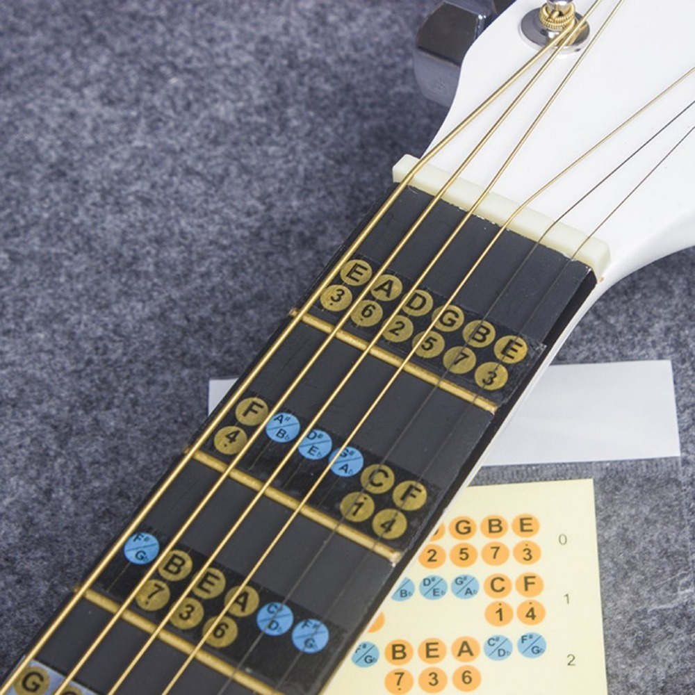 In Quality Self-adhesive Ukulele Fretboard Notes Scale Map Labels Sticker Reusable Fingerboard Fret Decals For Beginner Learner Practice Excellent