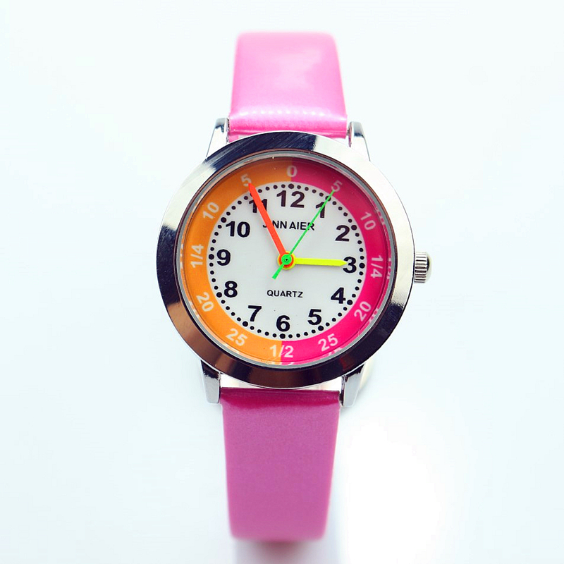 New Fashion Little Children Lovely Cartoon Quartz Watch Boys And Girls Simple Design Colorful Jelly Leather Clock Reloj De Cuarz