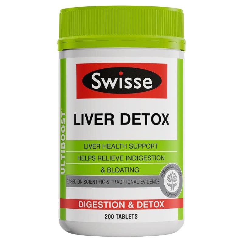 Austrália Swisse Desintoxicação Do Fígado 200 Comprimidos