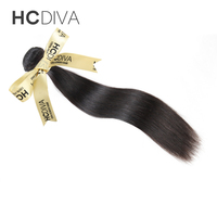 Brazilian Hair Weave Bundles Straight Human Hair Weaving Extensions HCDIVA Hair 1 Pcs Natural Color Unprocessed