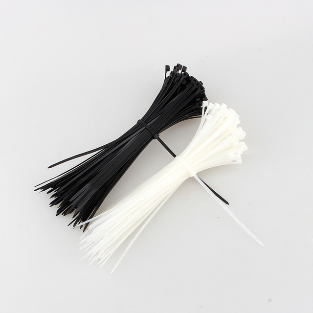 100pcs/lot 100mm x 3mm Self-Locking Network Nylon Plastic Cable Wire Zip Tie Cord Strap