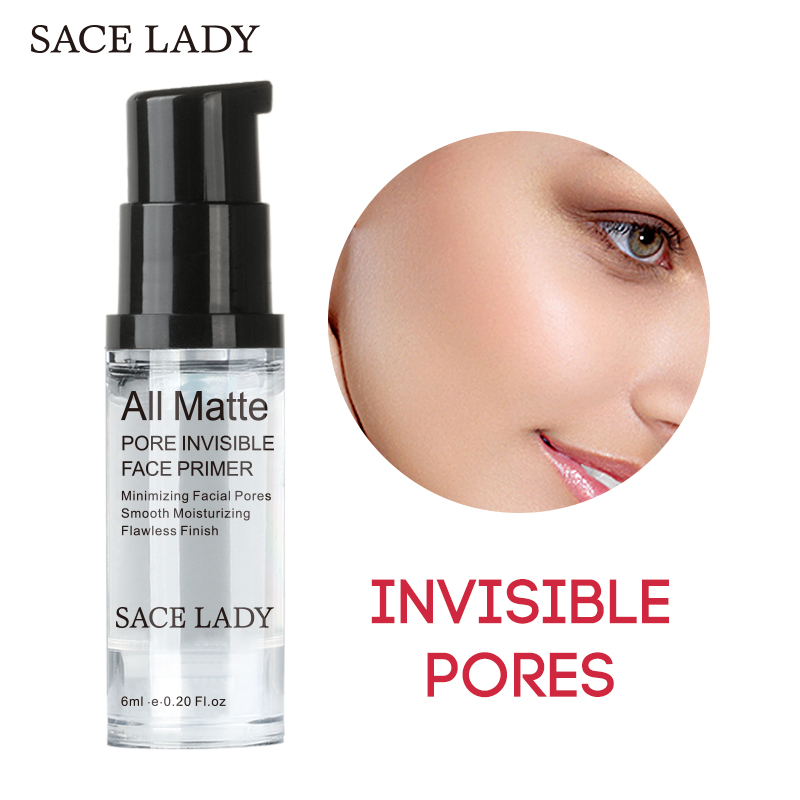 SACE LADY Face Base Primer Makeup Makeup Matte Liquid Make Up Lines Fine Krem për kontrollin e vajit Krem fytyrës Brighten Foundation Primer Cosmetic