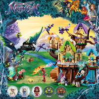 Friend Series The Elvenstar Tree Bat Attack Building Block 989pcs Bricks Toys Compatible With Legoings Girl Friends