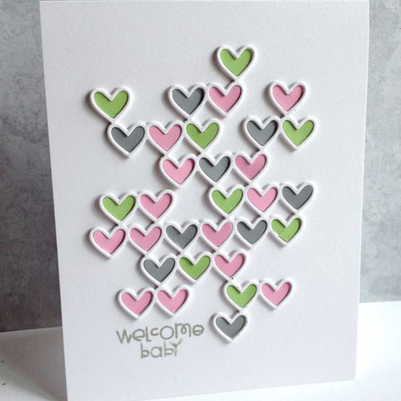 Metal <font><b>Cutting</b></font> <font><b>Dies</b></font> Stencil Hollow Heart Block Frame <font><b>Dies</b></font> Scrapbooking New 2019 Craft <font><b>Stamp</b></font> <font><b>Die</b></font> Cut <font><b>Christmas</b></font> Wedding Card Making image
