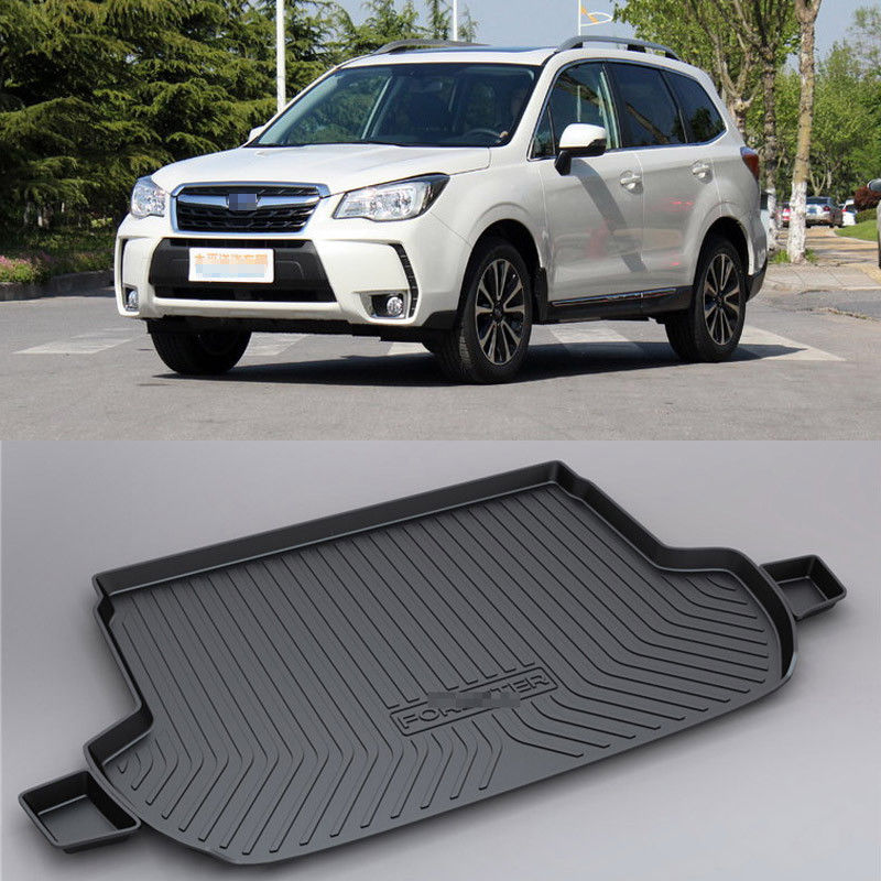 Non-Slip Waterproof 3D Trunk Boot Cargo tray Mat Recycled Durable For Subaru Forester XV Legacy OUTBACK liner TPO lining for honda jazz trunk tray mat tpo waterproof anti slip car trunk carpet luggage cover black