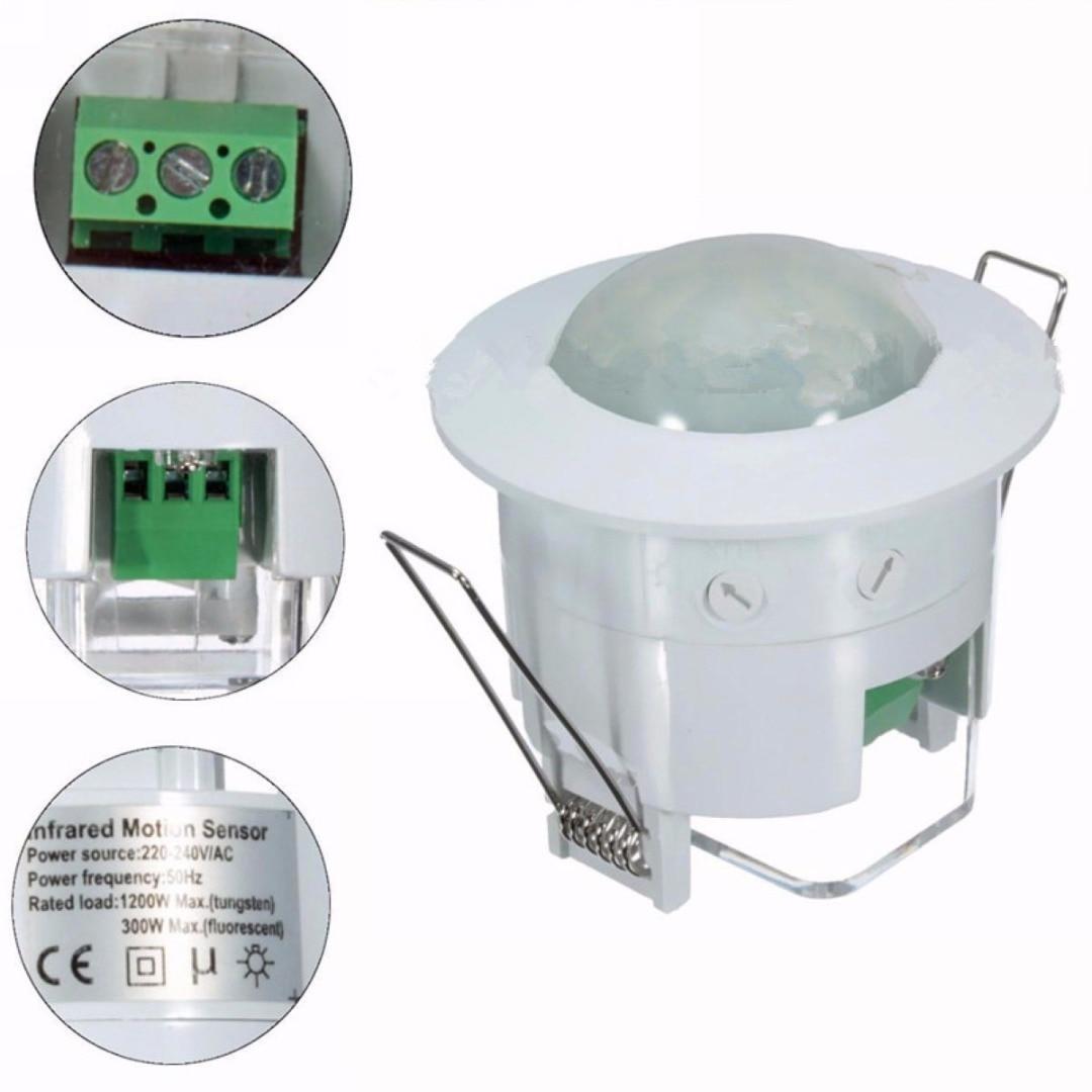 Mayitr 220V PIR Infrared Body Motion Sensor Detector Lamp Light Switch 360 Degree Ceiling Detector Switching safurance 110v 240v infrared ceiling pir body motion sensor detector light lamp switch 360 home automation