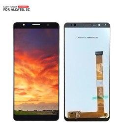 Dla Alcatel 3C OT5026 5026 wyświetlacz LCD + montaż digitizera ekranu dotykowego do Alcatel 5026 wyświetlacz mobilne darmowe narzędzia