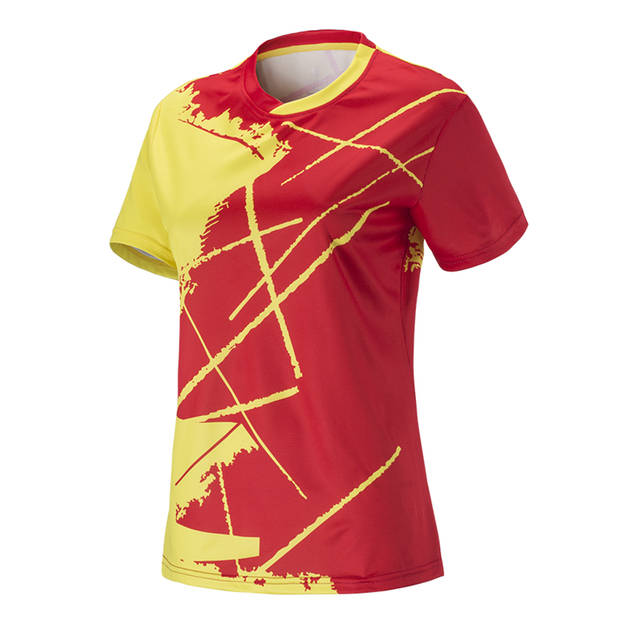 dfc75bea03c2 US $10.02 41% OFF|Women Tennis Shirts Outdoor Sport Clothing Kit Running  Workout Clothes Fitness Tees Female Badminton Short Sleeve T shirts Tops-in  ...