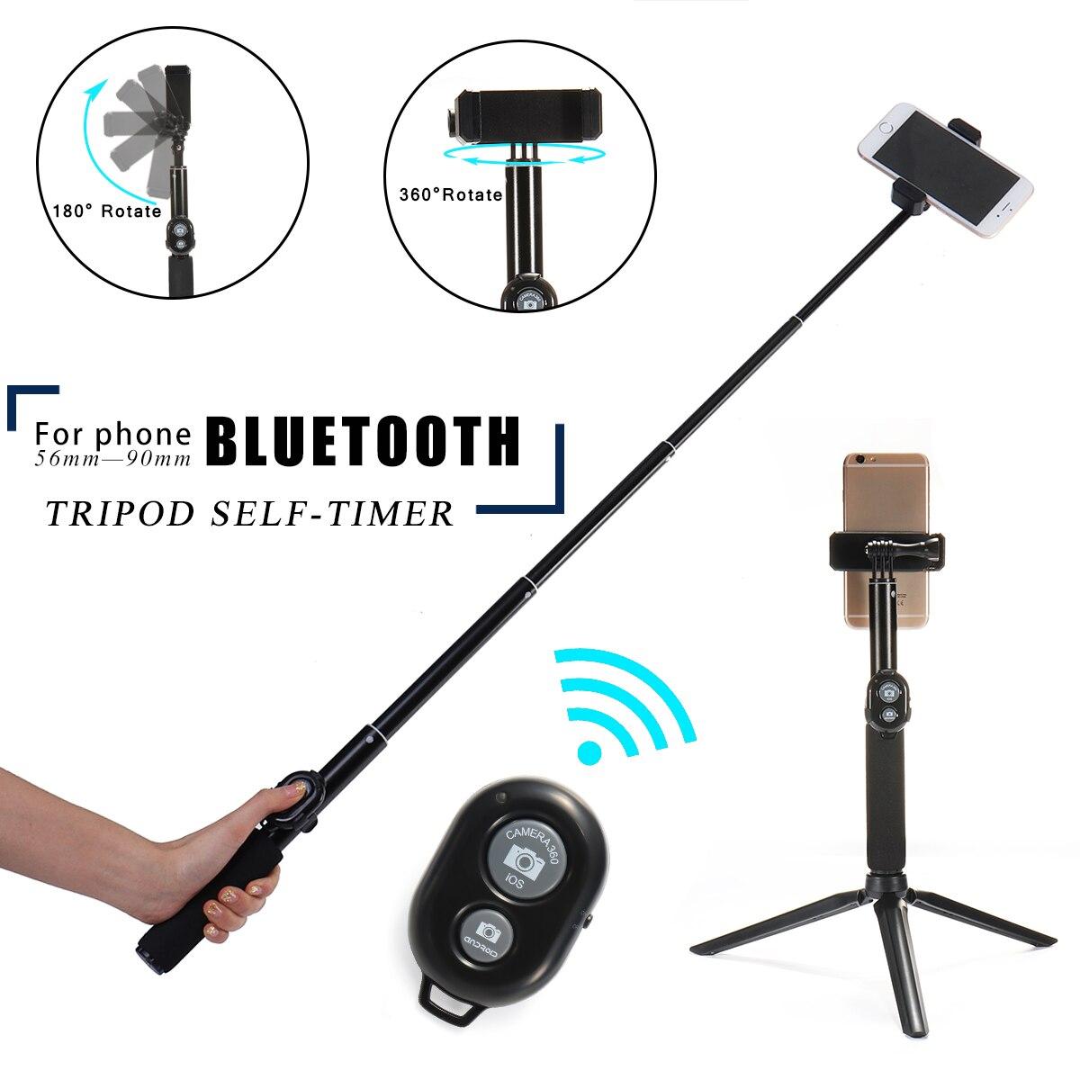 Stativ Monopod Selfie Stick bluetooth Mit Taste Clip 56-90mm für iPhone X 6 7 8 8 plus für Samsung S8 S9 Android Selfie Stick
