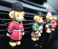 Teddy Bear Exquisite Resin Car Air Conditioner Outlet Perfume Seat Clip Solid Perfume