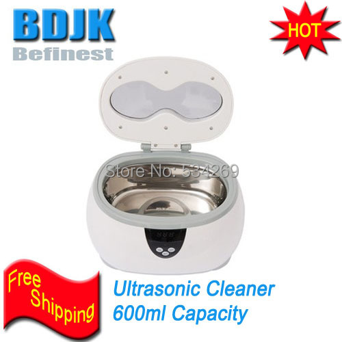 Free Shipping 600ML White Mini Digital Ultrasonic Cleaner Suitable for Various Items Jewelry Watch Glasse 50 50cm black matte pvc background for jewelry rings photo backdrop for jewelry mini items