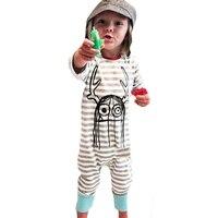 Jesień Niemowląt Ubrania Dla Dzieci Romper 2016 Piękny Potwór Druku Imfant Ubrania Dla Dzieci Romper Jesień Halloween Paskiem Dziewczyna Chłopiec Kombinezon