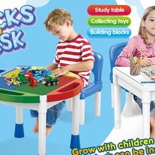 JMU001 Multi-function blocks table Children's blocks table Multifunction Collection Board Game table Writing Desk blocks desk