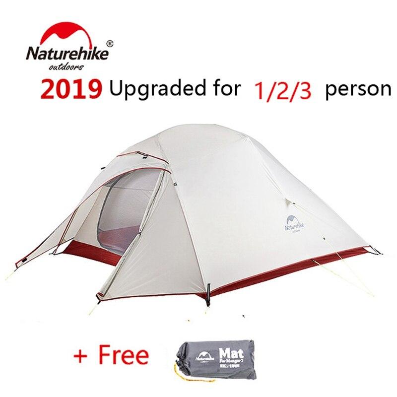 Naturel randonnée libre auto debout 20D Silicone tente Double couches 1 2 3 personne ultra-léger en plein air Camping tente nuage UP mis à jour - 2