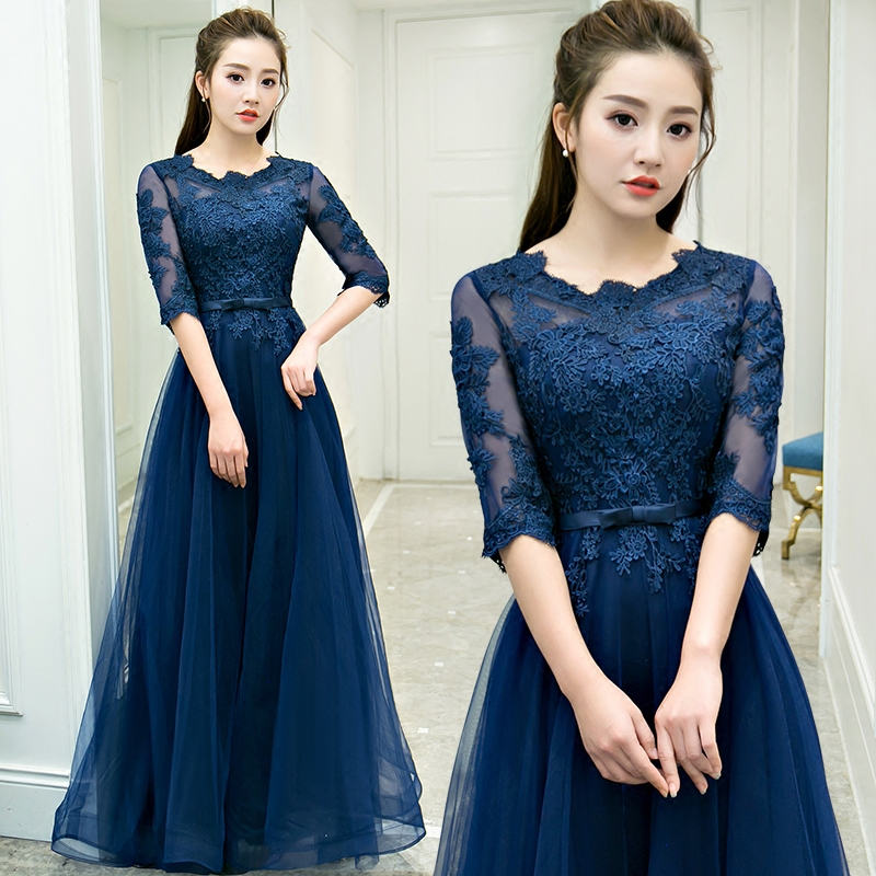 Banquet Evening Dress 2017 New Korean Style Fashion Long