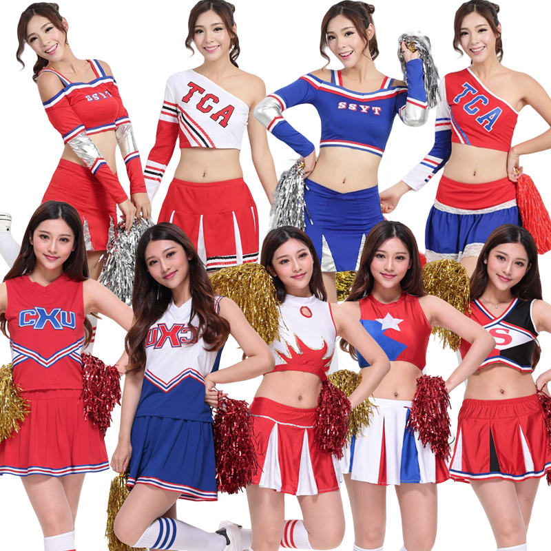 women Baseball football cheerleading cheerleader uniform clothes skirt performance wear modern DS BELLY costume stocking