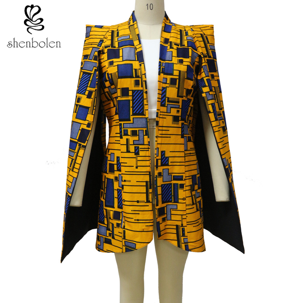 African Clothes For Women Fashion Jacket Both Sides Wear Jacket True Wax Fabric 100% Pure Cotton Suit Traditional Print