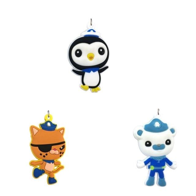 3pcs/set The Octonauts Cartoon Figure Soft PVC Pendant Charms Fit ...