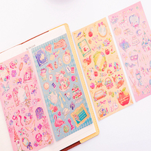 1pcs/lot Kawaii Fairy Tale World Princess Flowers Decorative Scrapbooking Stickers Diary Album Sticker Label gift for kids