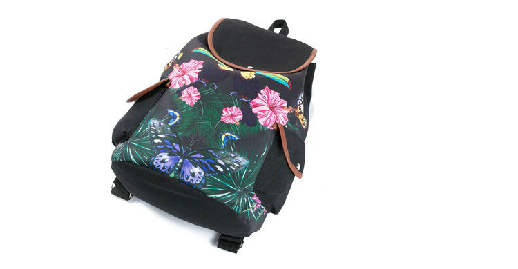 a510adaa0e4c Rdywbu Colorful Flowers Printed Drawstring Backpack Women New Light Weight  Canvas Travel Bag Girls Big Capacity School Bag B671