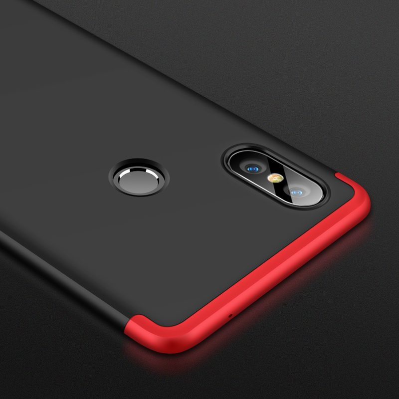 Phone Cases For Xiaomi MIX 2S Case 3 in 1Matte Hard PC Shockproof Shell Cover For Xiaomi MIX 2S Coque in Half wrapped Cases from Cellphones Telecommunications