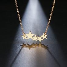 DOTIFI, ожерелье из нержавеющей стали для женщин, для влюбленных, золотистого и серебристого цвета, Пентакль, пентаграмма, кулон, ожерелье, обручальное украшение