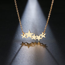 DOTIFI Stainless Steel Necklace For Women Lover's Gold And Silver Color Pentacle Pentagram Pendant Necklace Engagement Jewelry(China)