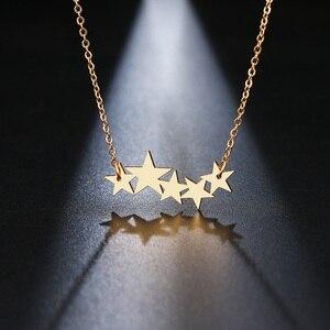 DOTIFI ожерелье из нержавеющей стали для женщин любовника золото/розовое золото цвет пентаграмма кулон ожерелье Обручальное ювелирное издели...