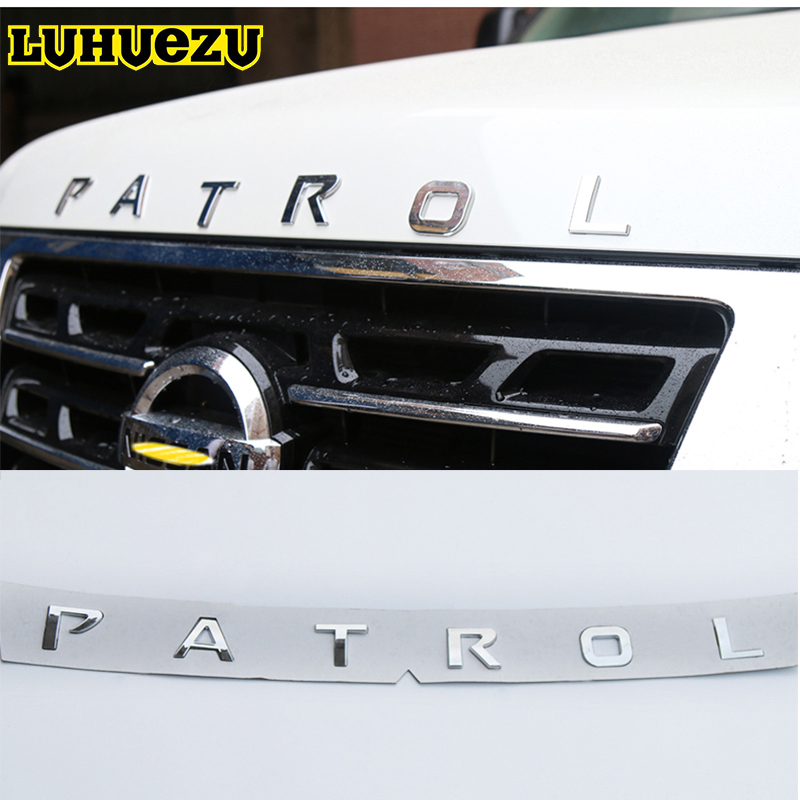 2013-2017 Car Front Rear Body Sticker Cover Emblem Letters For Nissan Patrol Y62 Armada Accessories
