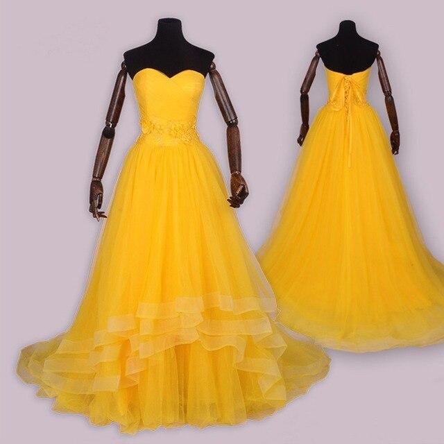 11e2c9479544 2017 Nuovo Movie bella e la Bestia cosplay costume Adulto principessa Belle costume  di Halloween vestiti Gialli