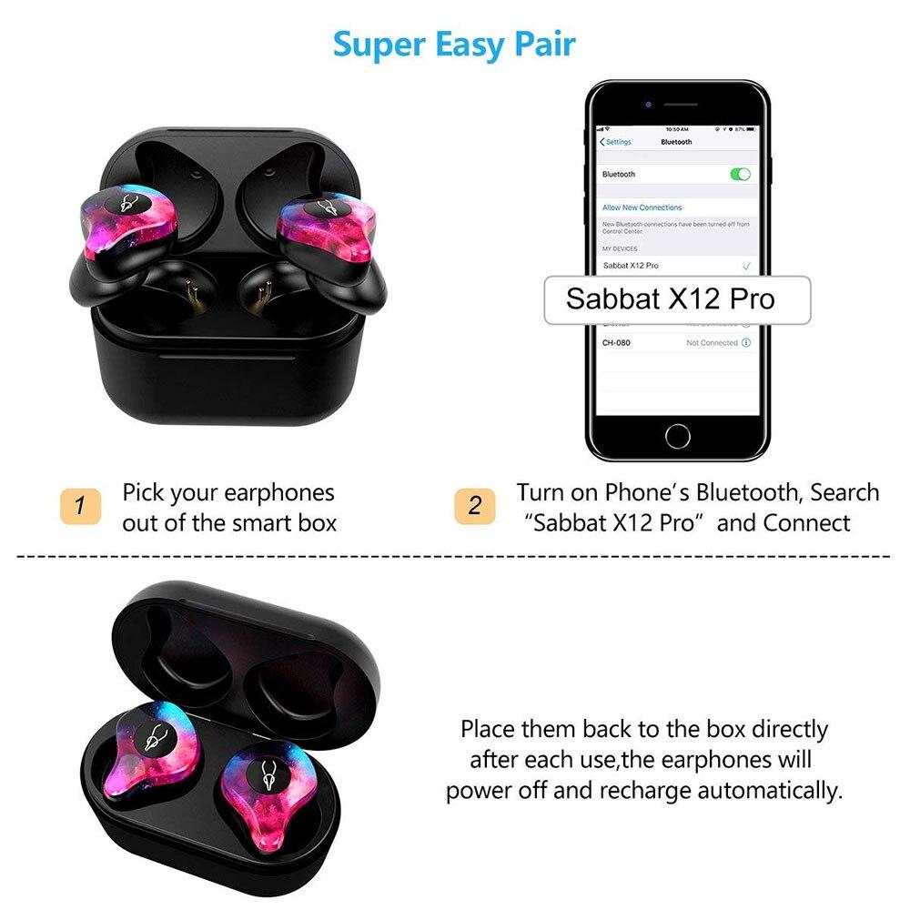 Original Sabbat Wireless Earbuds 5 0 Bluetooth Earphone Sport Hifi Headset Handsfree Waterproof Ear Buds for Samsung Phone in Bluetooth Earphones Headphones from Consumer Electronics