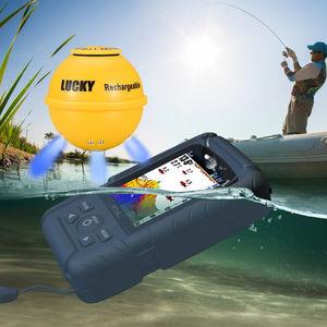Image 5 - GLÜCK FF718LiC WLA 45M/147 Füße Sonar Tiefe Wasserdichte Fischfinder Drahtlose Tragbare Fisch Finder 125Khz fisch attraktive lampe