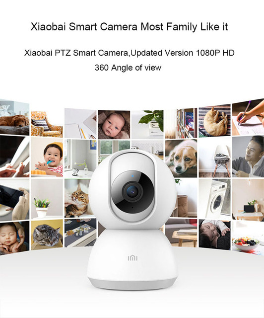 Updated Version 2019 Xiaomi Mijia Smart Camera Webcam 1080P WiFi Pan-tilt Night Vision 360 Angle Video Camera View Baby Monitor 4