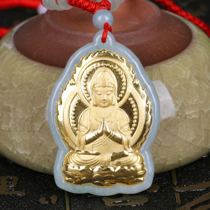 Heiße Verkäufe Guanyin Jade Glück Hochwertigen Männer Frauen Halsketten Nur Für Jewel