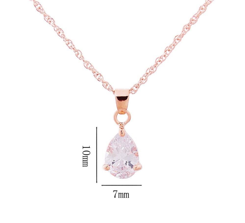 Hot-Sale-18K-Gold-Plated-Jewelry-Sets-Water-Drop-CZ-Diamond-Pendant-Necklace-Earrings-Sets-Women (1)